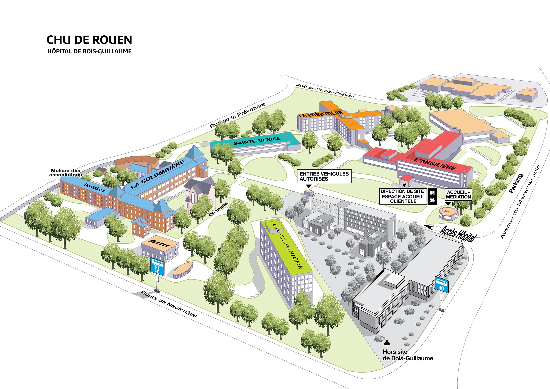 La Boiseraie Bois Guillaume - Se rendreà l u2019h u00f4pital Bois Guillaume CHU de Rouen