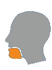 Déformation de la bouche en cas d'AVC