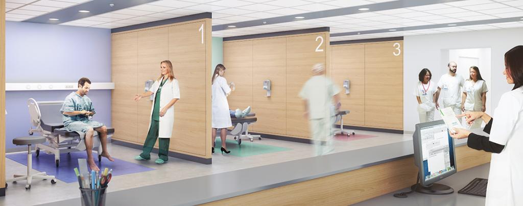 Bâtiment Robec : Box d'anesthésie préparatoire