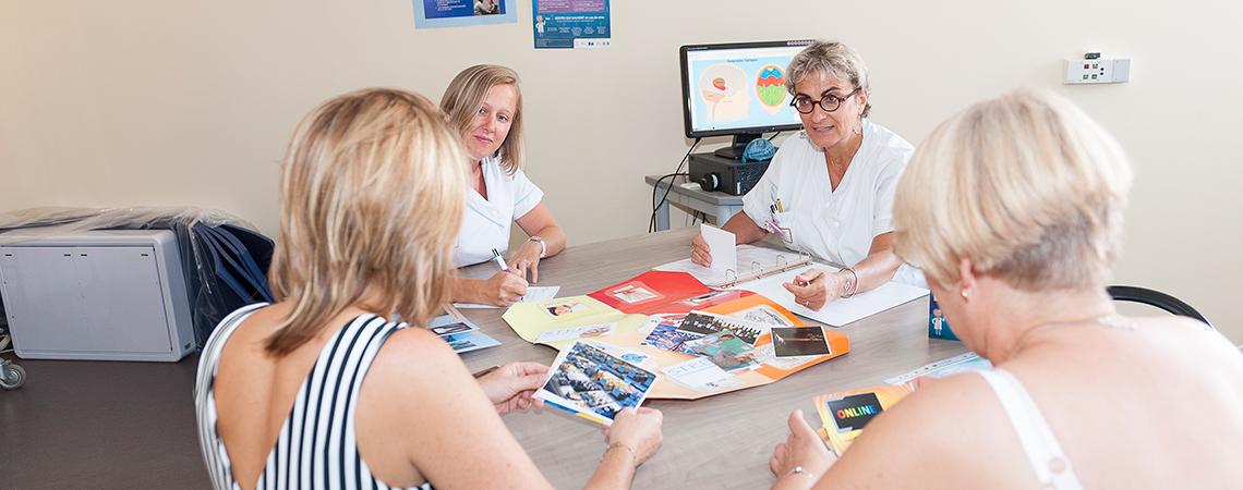 Atelier d'éducation thérapeutique à l'épilepsie réalisé par le service de neurophysiologie.