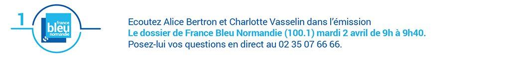 Bandeau internet annonçant l'émission France Bleu Normandie sur la dénutrition dans le cadre d'Avis d'experts