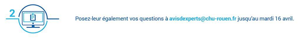 Bandeau internet demandant de poser ses questions sur la dénutrition dans le cadre d'Avis d'experts