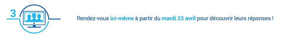 Bandeau internet annonçant la date de publication des réponses sur la dénutrition dans le cadre d'Avis d'experts