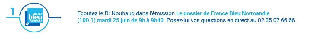Écoutez le Dr Nouhaud dans le Dossier de France Bleu Normandie dans le cadre d'Avis d'experts sur le cancer de la prostate.