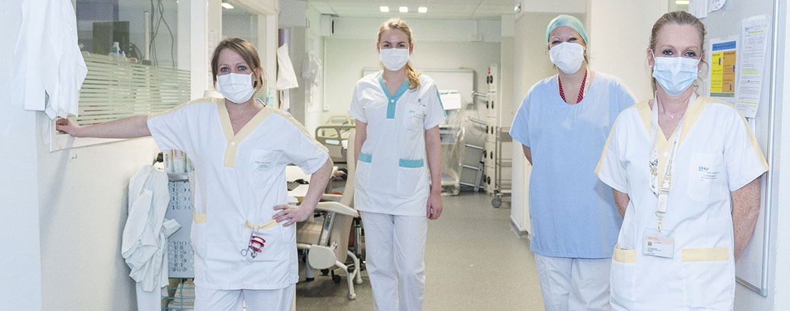 Covid-19 : service de réanimation médicale