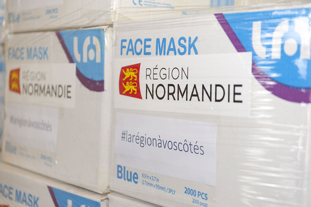 Covid-19 : don de masques par la Région Normandie