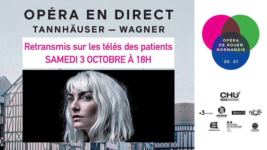 Opéra en direct sur la télévision des patients