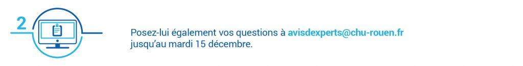 Avis d'experts : envoyez vos questions sur l'endométriose à avisdexperts@chu-rouen.fr jusqu'au 15 décembre 2020