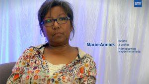 Témoignage de patients greffés rénaux : Marie-Annick